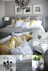 Grey And Yellow Comforters Bedding Design Terrific Yellow White And Grey Bedding Bedroom