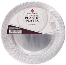 clear plastic plates member s clear plates 6 1 4 70 count health