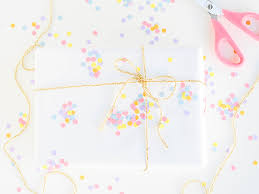polka dot wrapping paper easy confetti wrapping paper you can diy