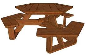 free hexagon picnic table plans pdf discover woodworking projects