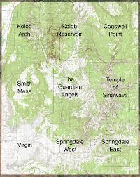 map of zion national park zion national park