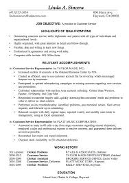 Updated Resume Examples by Resume Sample Customer Service Positions Customer Service Cover