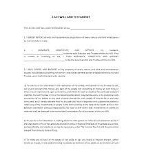 39 last will and testament forms u0026 templates template lab