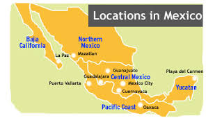 regions of mexico map language schools and language immersion in mexico