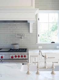grey colored subway tile kitchen backsplash outofhome