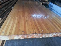 Solid Pine 833 Imported Used Bowling Alley Floor Board Solid Pine Wood