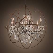 Crystal Sphere Chandelier Lighting Modern Interior Lights Design With Luxury Crystal