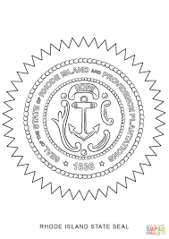 rhode island state seal coloring page free printable coloring pages