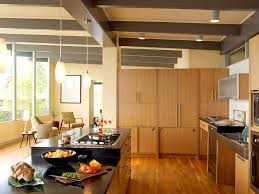 universal design kitchen midcentury with modern cabinets