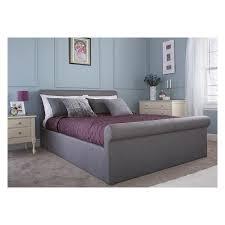 Grey Sleigh Bed Super Low Priced Carolina Upholstered Side Gas Lift Bed Frame For