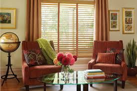 window treatments at interiors at the livery stable