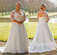 wedding dresses size 18 corset lace 3 4 sleeve wedding dresses ebay