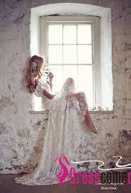 wedding dress with bling boho wedding dresses shoulder beaded lace white