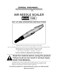 air needle scaler model 1108 gas compressor manufactured goods