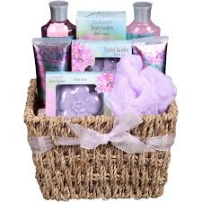 Bath Gift Basket Floral Breeze Enchanted Secret Garden Bath Gift Set 9 Pc