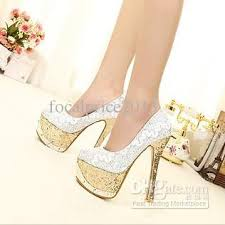 silver wedding shoes wedges 2013 fashion bling wedding shoes gold and silver bridal