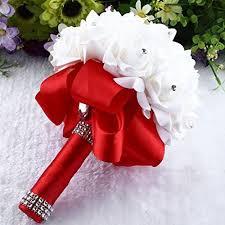Bridesmaid Bouquets Red Wedding Bouquets Amazon Com