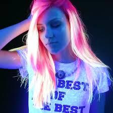 rainbow color hair ideas glow in the dark rainbow hair video popsugar beauty australia
