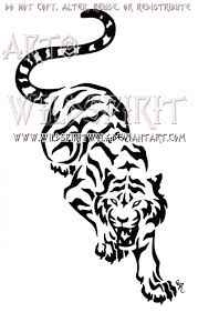 snarling prowling tiger design by wildspiritwolf on deviantart