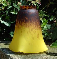 vintage french art glass lamp shade signed item 3224 for sale
