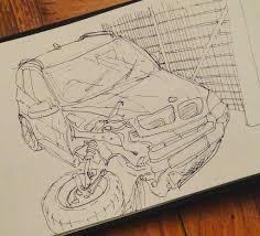 wrecked car drawing bmw crash car bmw sketch sketchbook drawing inktobe u2026 flickr