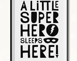 superhero wall art etsy