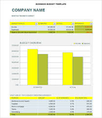 Business Budget Template Excel Free Business Budget Template 3 Free Word Excel Documents