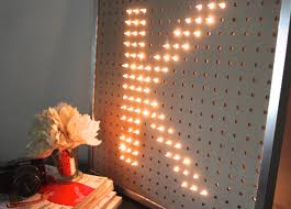 diy light brite inspired framed monorgam letter neat way to