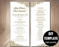 wedding bulletins exles rustic wedding programs etsy