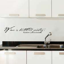 wine is bottled poetry wall art decals