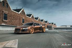audi r8 gold prior design audi r8 v10 adv005 m v2 cs wheels