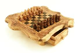 wood natural chessboard