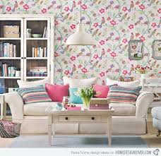 wallpapers designs for home interiors 15 living room with floral wallpapers home design lover