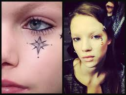 how to give yourself a trendy temporary face tattoo like a model