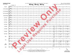 sing sing sing with a swing louis prima sing sing sing additional score by loui j w pepper sheet