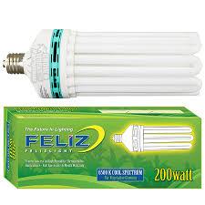 200 watt hps light feliz 200 watt blue 6500k compact fluorescent grow l