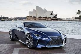 lexus blue color first lexus lf lc concept in blue color for 2012 australian motor show