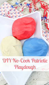 patriotic no cook play dough recipe midwest modern momma