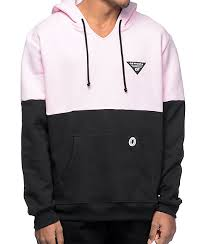 odd future ofwgkta color blocked pink u0026 black hoodie pastel pink
