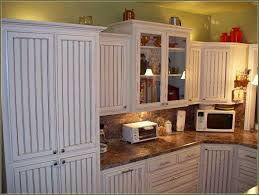 How To Build A Kitchen Cabinet Door White Beadboard Kitchen Cabinet Doors Combined With Marble