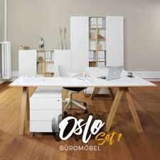 Schreibtisch Design G Stig Oslo Büromöbel 7er Set Von Reinhard Günstig Buerado