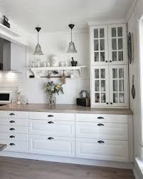 ikea kitchen cabinets solid wood ikea kitchen cabinets white wooden shelf small glassy pendant lamp