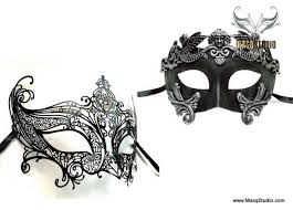 masks for masquerade venetian feathered black lace masquerade mask set