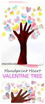handprint valentine heart tree crafty kids craft and valentine