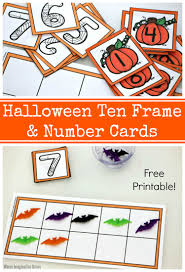 Free Halloween Cards Printable Halloween Ten Frame U0026 Number Cards Free Printable Where