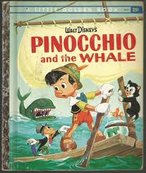 pinocchio whale golden book disney wiki