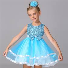 light blue dresses for kids 2017 little girls dresses kids blue princess dress girls sequin
