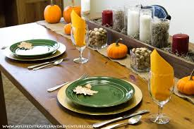 Table Setting Chargers - my life of travels and adventures fall decorations thanksgiving