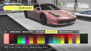 gold color cars rose gold paintjob forza horizon 2 xbox 360 youtube