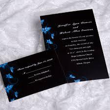 black wedding invitations blue and black wedding invitations yourweek 237defeca25e